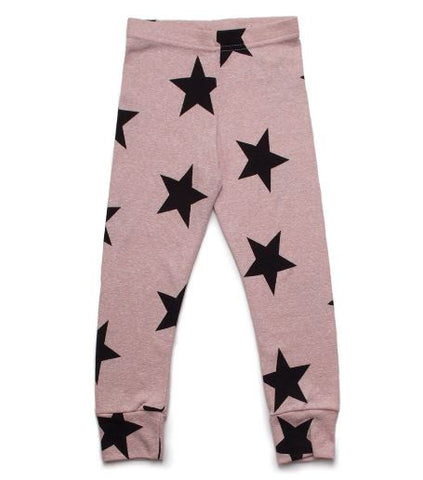 Star Leggings in Powder Pink