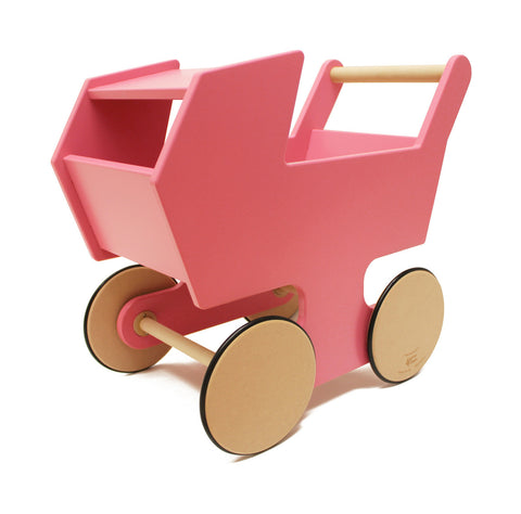 Wooden Stroller Push Cart
