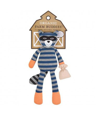 "Robbie Raccoon 14"" Organic Plush Toy"