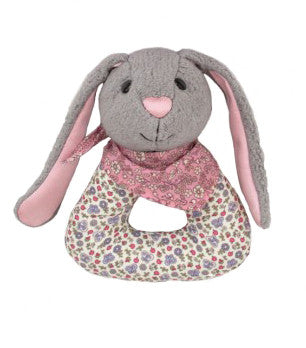 Organic Patterned Bunny Rattle