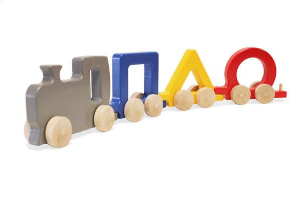 Shapes Train Set Wooden Push Toy