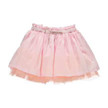 Skirt with Tulle Underlay in Pale Pink