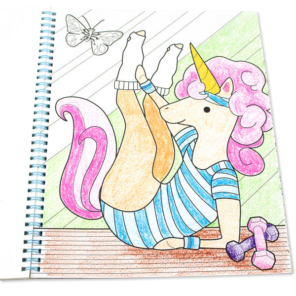 Color-in' Book: Unicorn Adventures