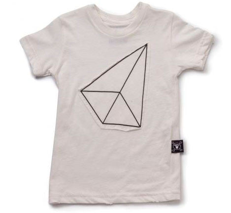 Geometric Patch Tee in White