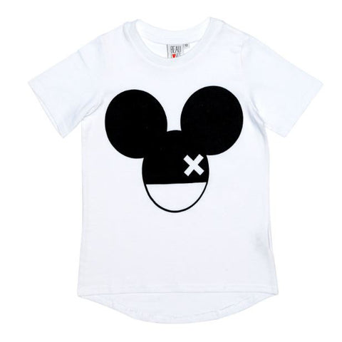 Mouse Tee in White