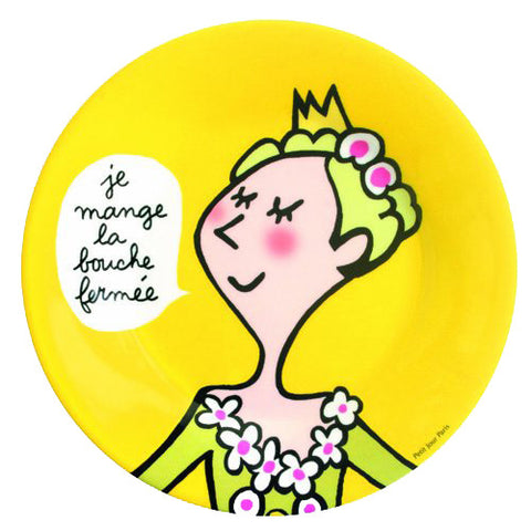 Princess Manners Plate -  I eat with my mouth closed