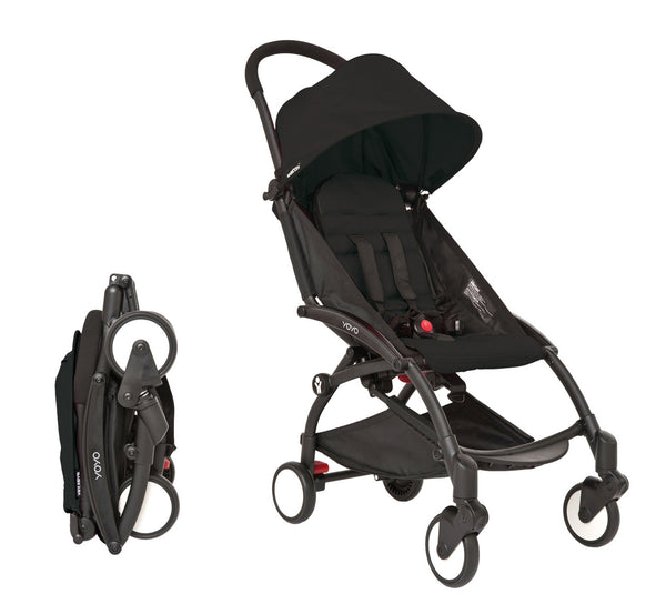 Babyzen YOYO Stroller - Black Frame With Black Canopy