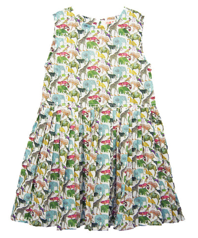 "Liberty London ""Queue for the Zoo"" Print Dress"