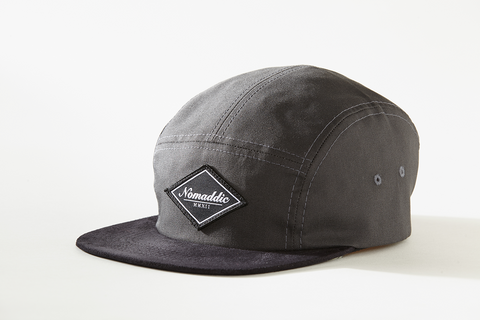 Diamond Logo Suede 5-Panel Hat - Grey (Home)
