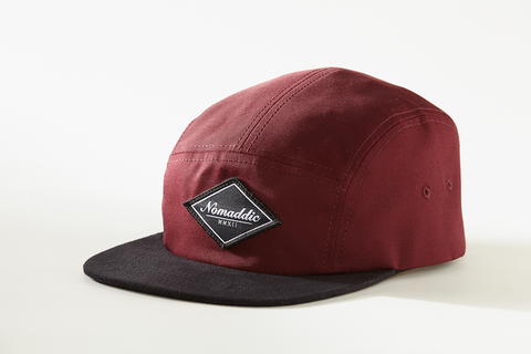 Diamond Logo Suede 5-Panel Hat - Burgundy (Away)