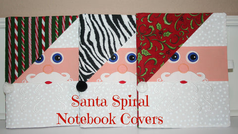 Santa Spiral Notebook Covers