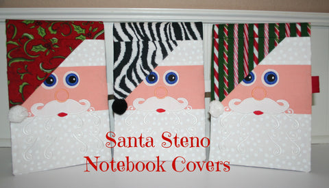 Santa Steno Notebook Covers