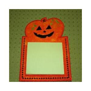 FREE! In-the-Hoop Pumpkin Notepad Cover