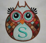 Hooty Applique Owl Embroidery Design