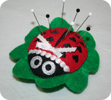 In-The-Hoop Ladybug Pincushion