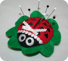 In the Hoop ~ Ladybug Pincushion