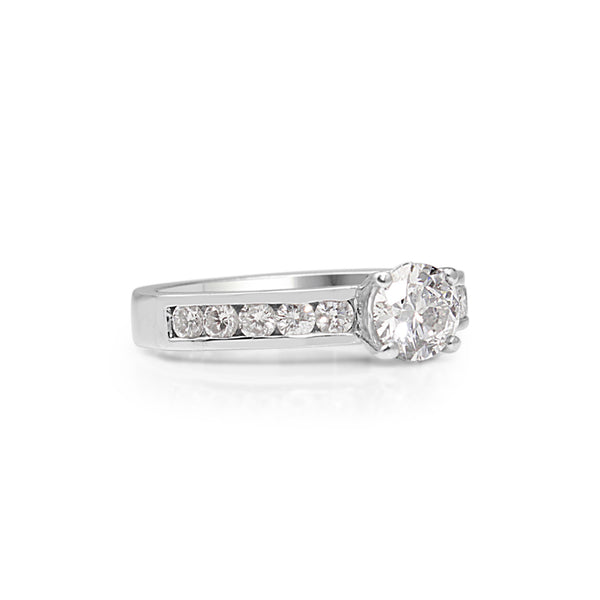 18ct White Gold Diamond Solitaire Ring