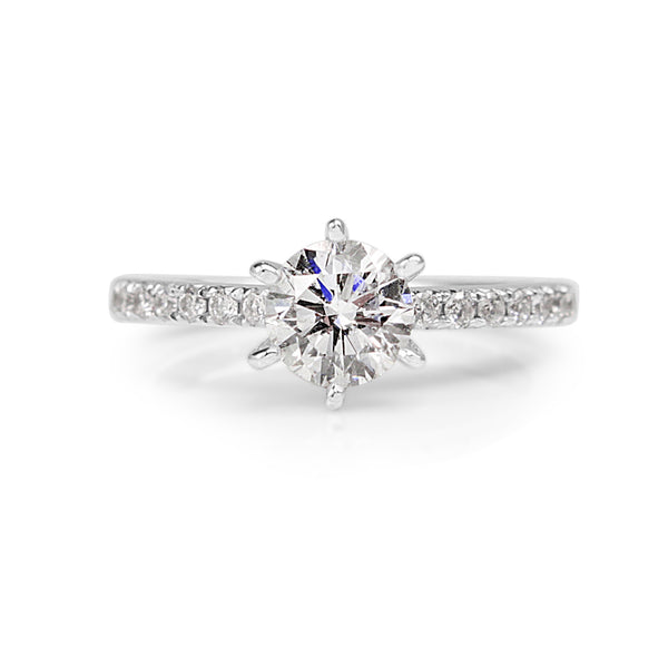 14ct White Gold 6 Claw Diamond Solitaire