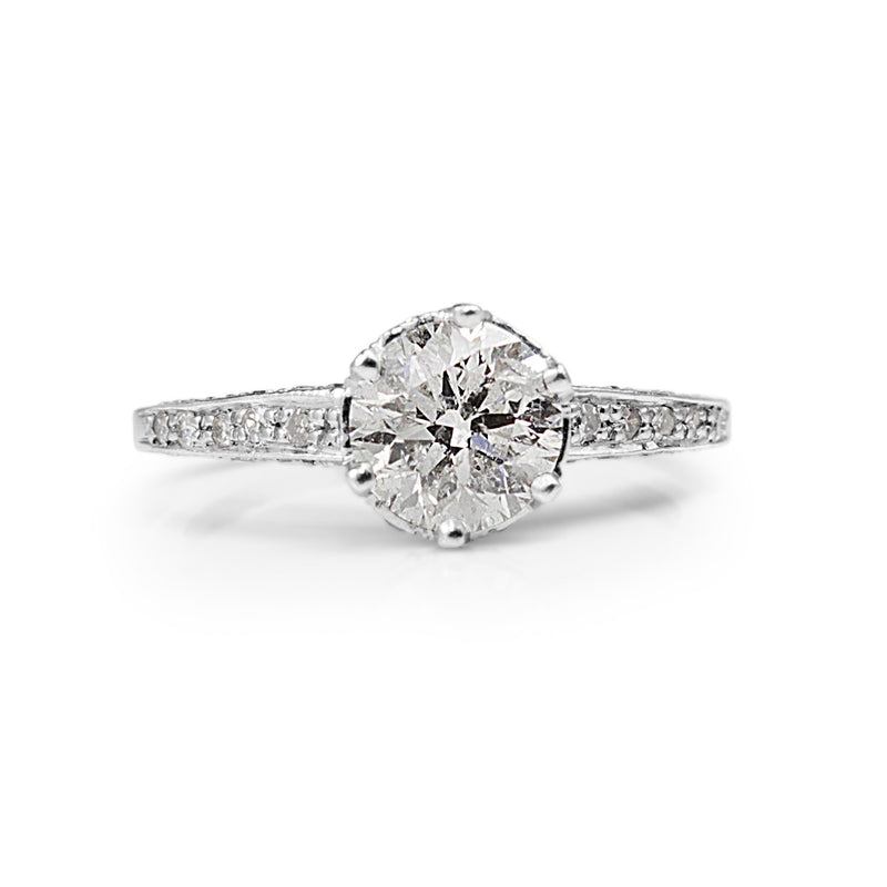 Platinum Diamond Solitiare Ring