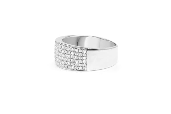 14ct White Gold Diamond Pavé Band