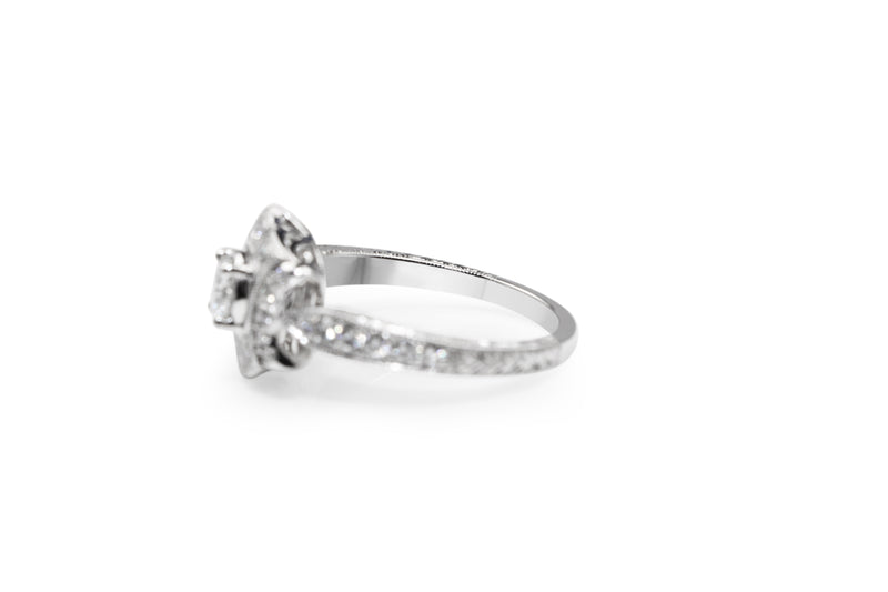 18ct White Gold Art Deco Style Diamond Ring