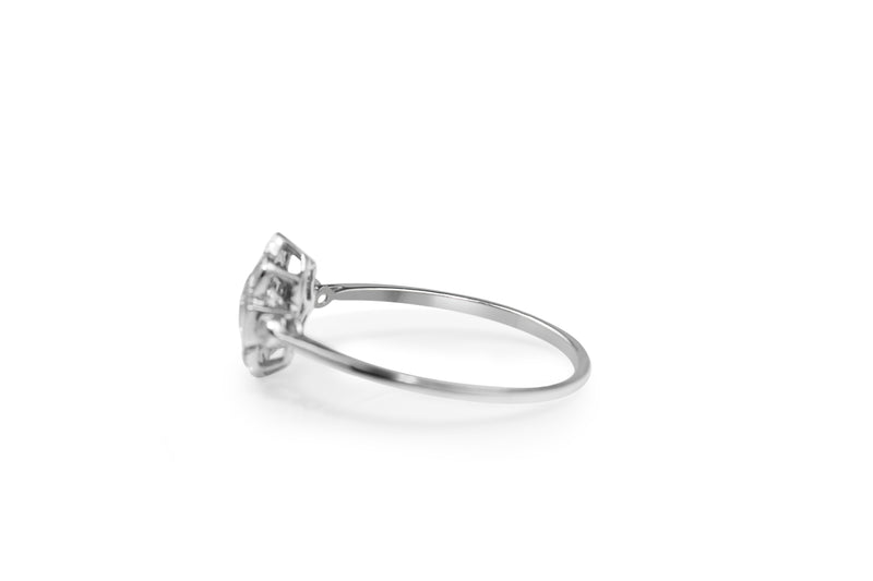 18ct White Gold Diamond Daisy Ring