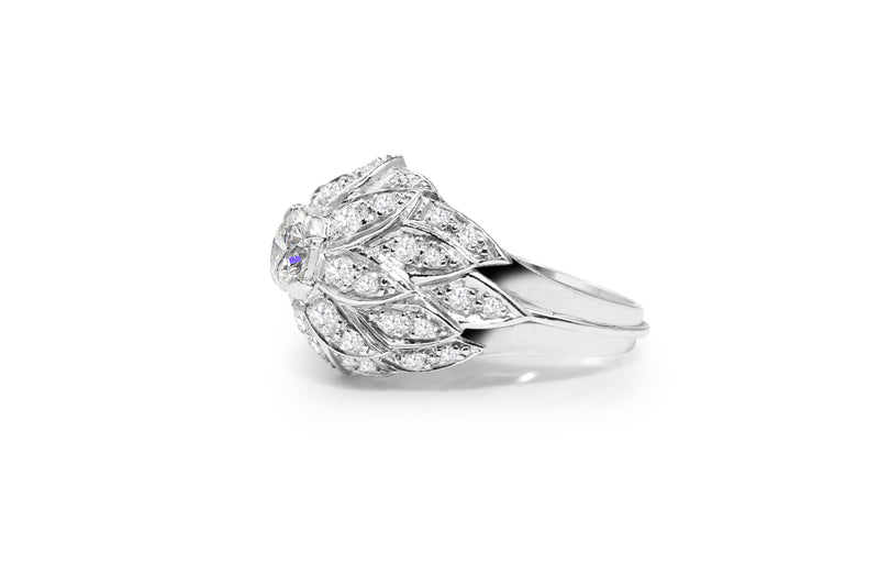Platinum Vintage Diamond Cocktail Ring