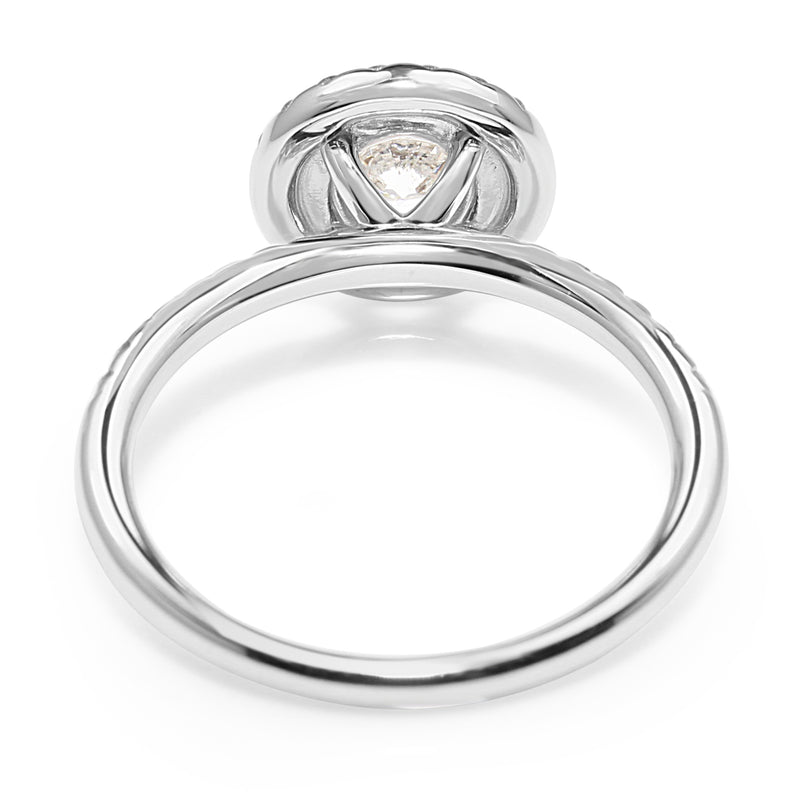 18ct White Gold Double Halo Diamond Ring