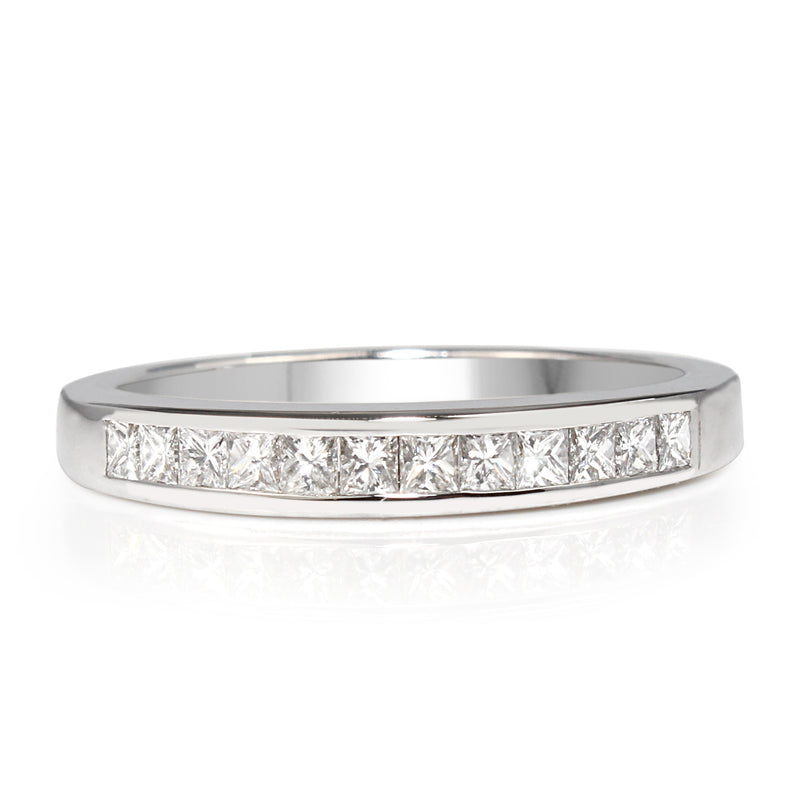 18ct White Gold Channel Set Band
