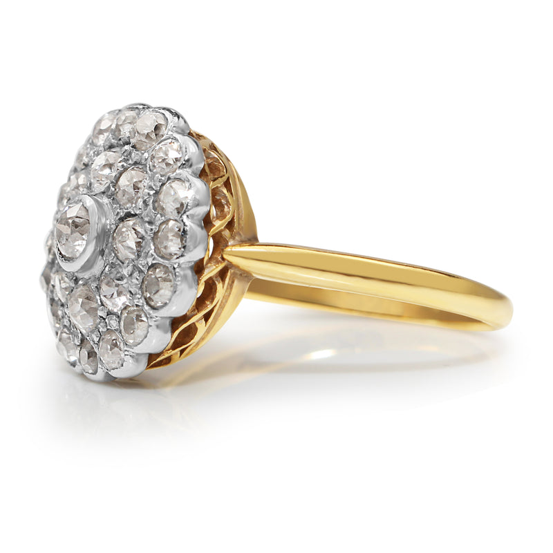 Platinum and 18ct Yellow Gold Old Cut Diamond Ring