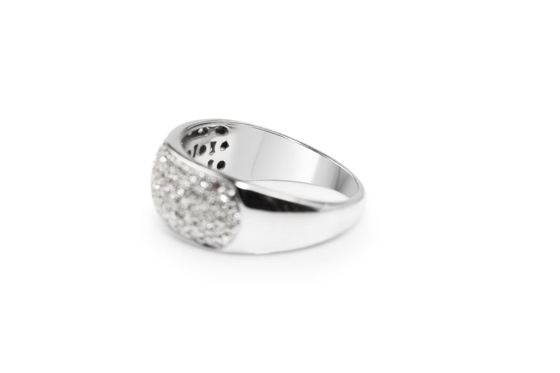 9ct White Gold Pavé Diamond Ring