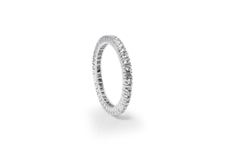 18ct White Gold All Round Diamond Band