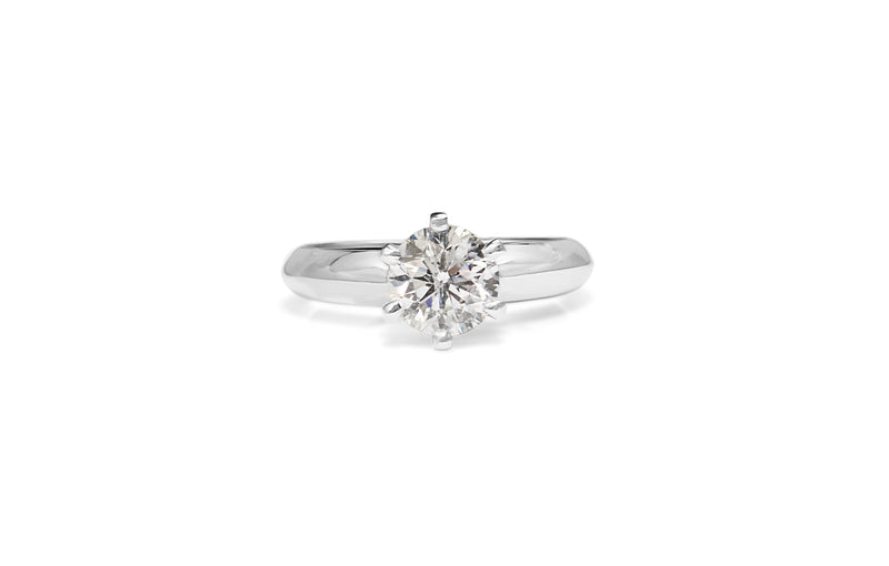 18ct White Gold 6 Claw Diamond Solitaire Ring