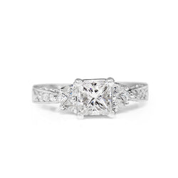 18ct White Gold Princess Cut Diamond Ring
