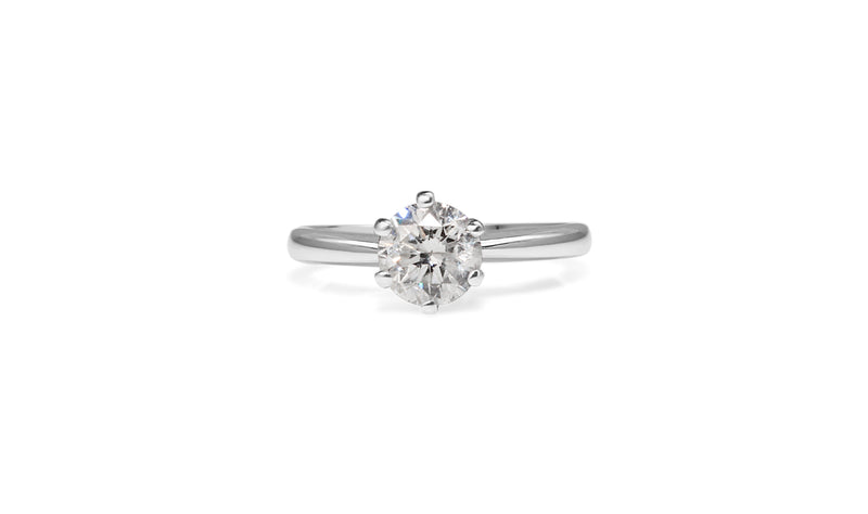 18ct White Gold 6 Claw Diamond Solitaire
