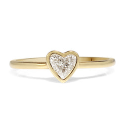 18ct Yellow Gold Heart Diamond Ring