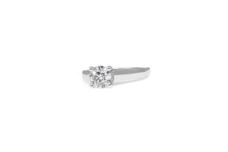 Platinum 4 Claw Diamond Solitaire Ring