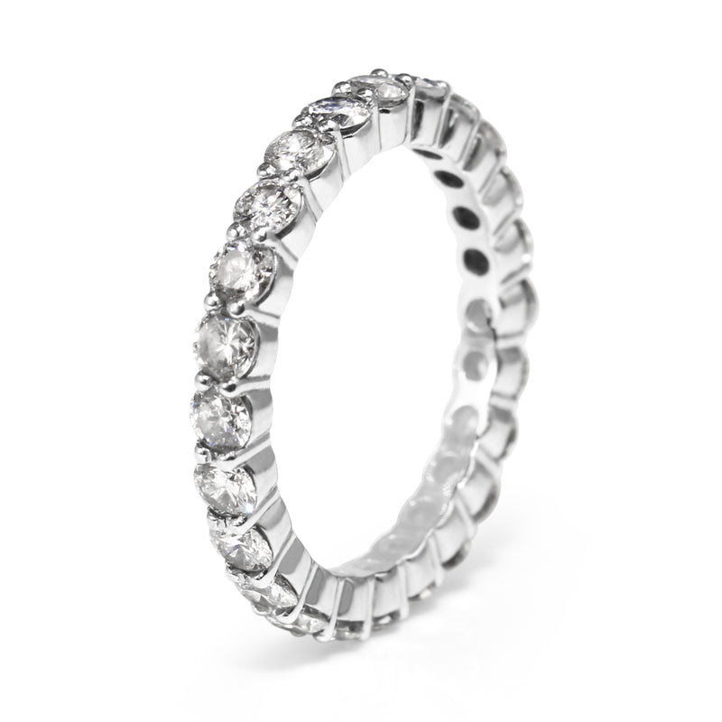 Platinum All Round Diamond Band