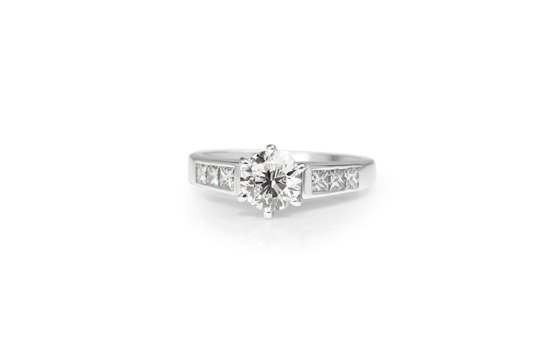 14ct White Gold Diamond Solitaire Ring