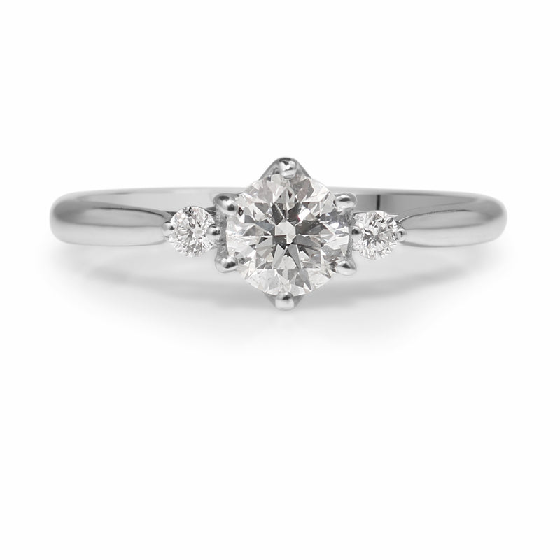 18ct White Gold 3 Stone Diamond Ring