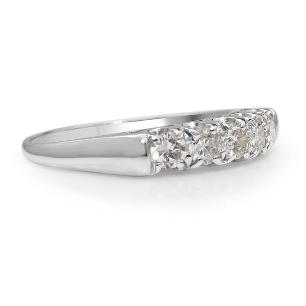 14ct White Gold 5 Stone Diamond Ring