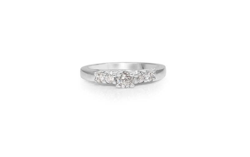 Platinum Old and Brilliant Cut Diamond Ring