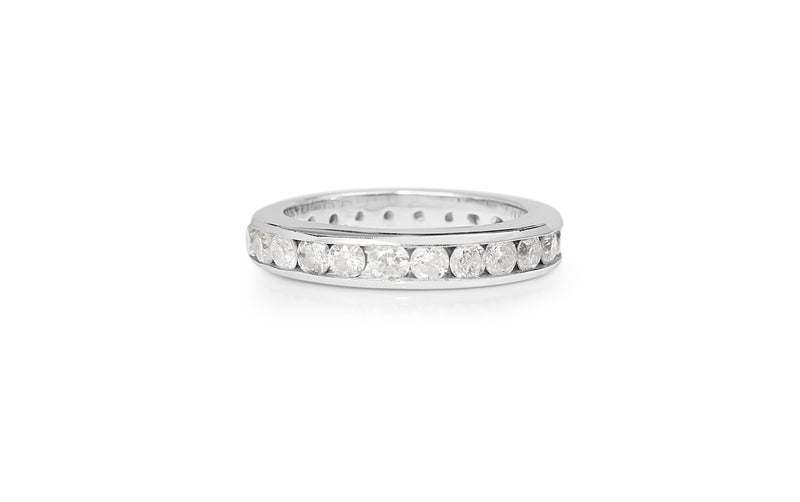 14ct White Gold All Round Diamond Band