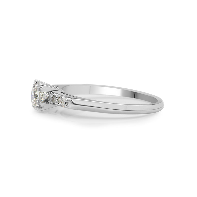 Platinum Old Cut Diamond Ring