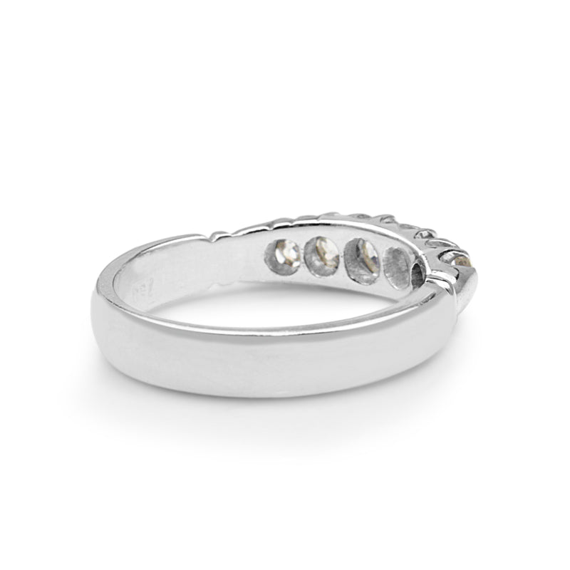 18ct White Gold Old Cut 5 Stone Diamond Ring