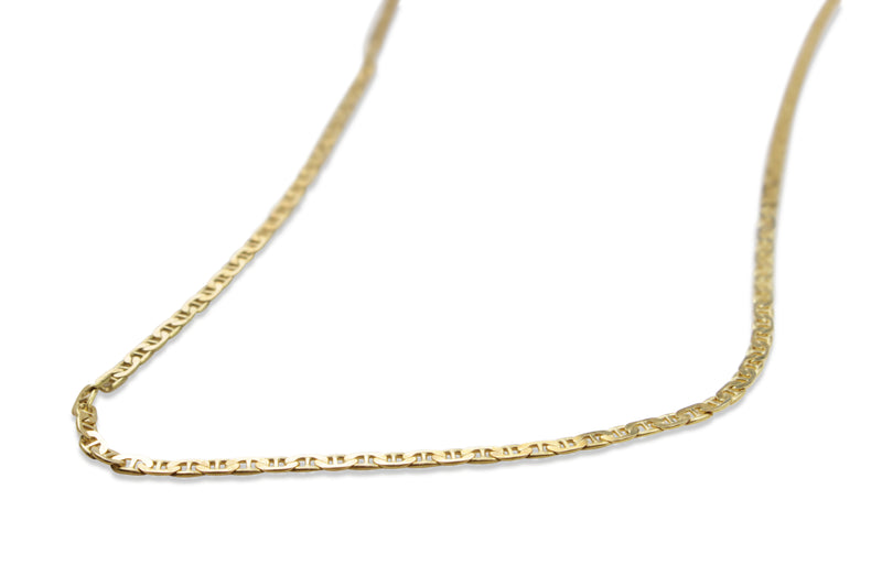 18ct Yellow Gold Flat Link Chain Necklace