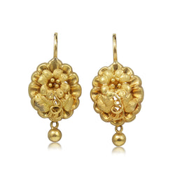 18ct Yellow Gold Antique Drop Earrings
