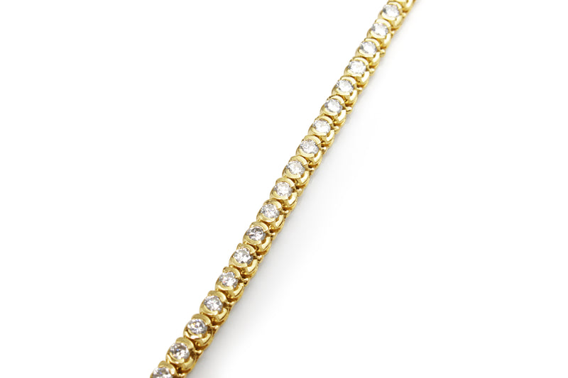14ct Yellow Gold Diamond Tennis Bracelet