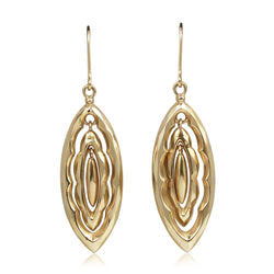 9ct Gold Antique Drop Earrings