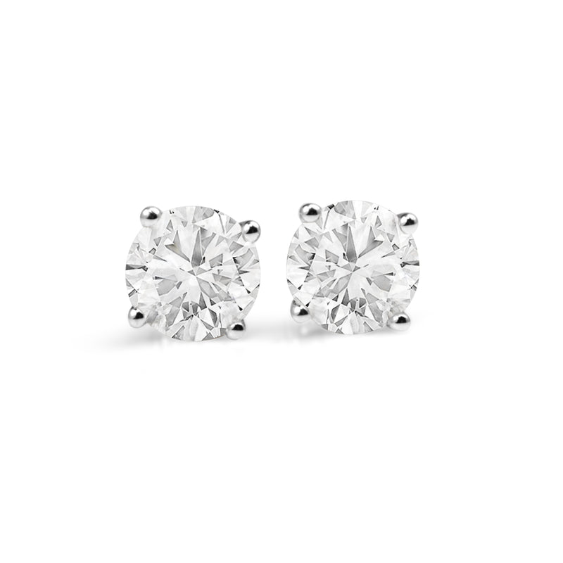 18ct White Gold 2.30ct Diamond Stud Earrings